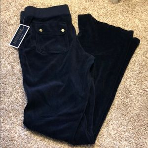 Juicy couture navy velour bootcut pants